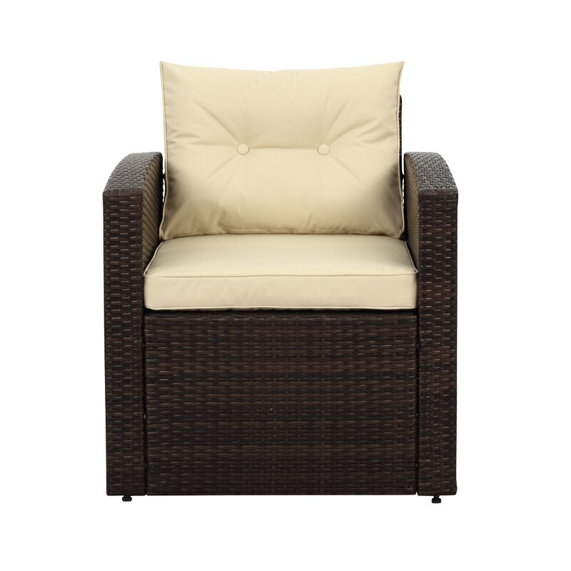 Arlington 4 Piece Rattan Sofa Seating Group with Cushions
