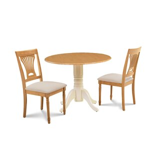 Finnigan 3 Piece Drop Leaf Solid Wood Dining Set Read Reviews