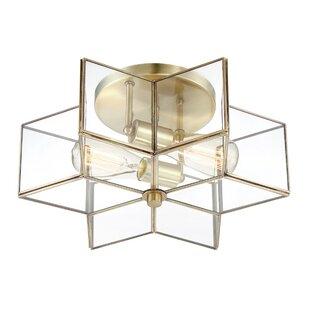 rectangular flush mount ceiling light crystal boswell 2light flush mount modern lighting allmodern