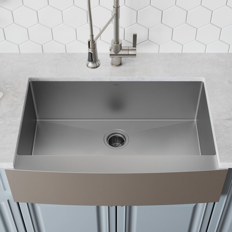 33 L X 21 W Farmhouse A Kitchen Sink With Drain Embly