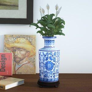 McGibbony Blue Floral Vase