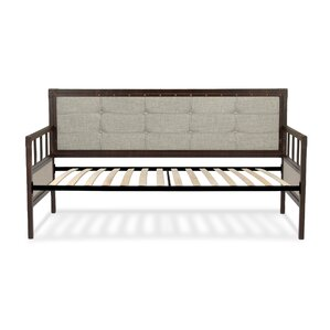 Danvers Twin Metal Daybed with Button-Tufted Upholstery by Trent Austin Design Image