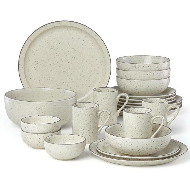 Kallan 16 Piece Dinnerware Set, Service For 4