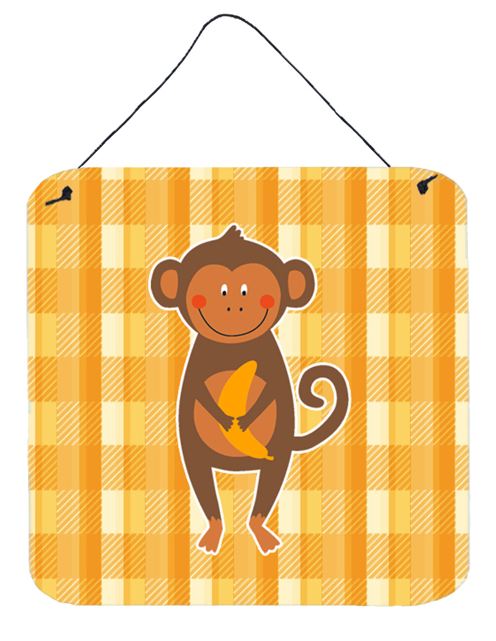 Zoomie Kids Monkey Business Aluminum Wall Décor | Wayfair