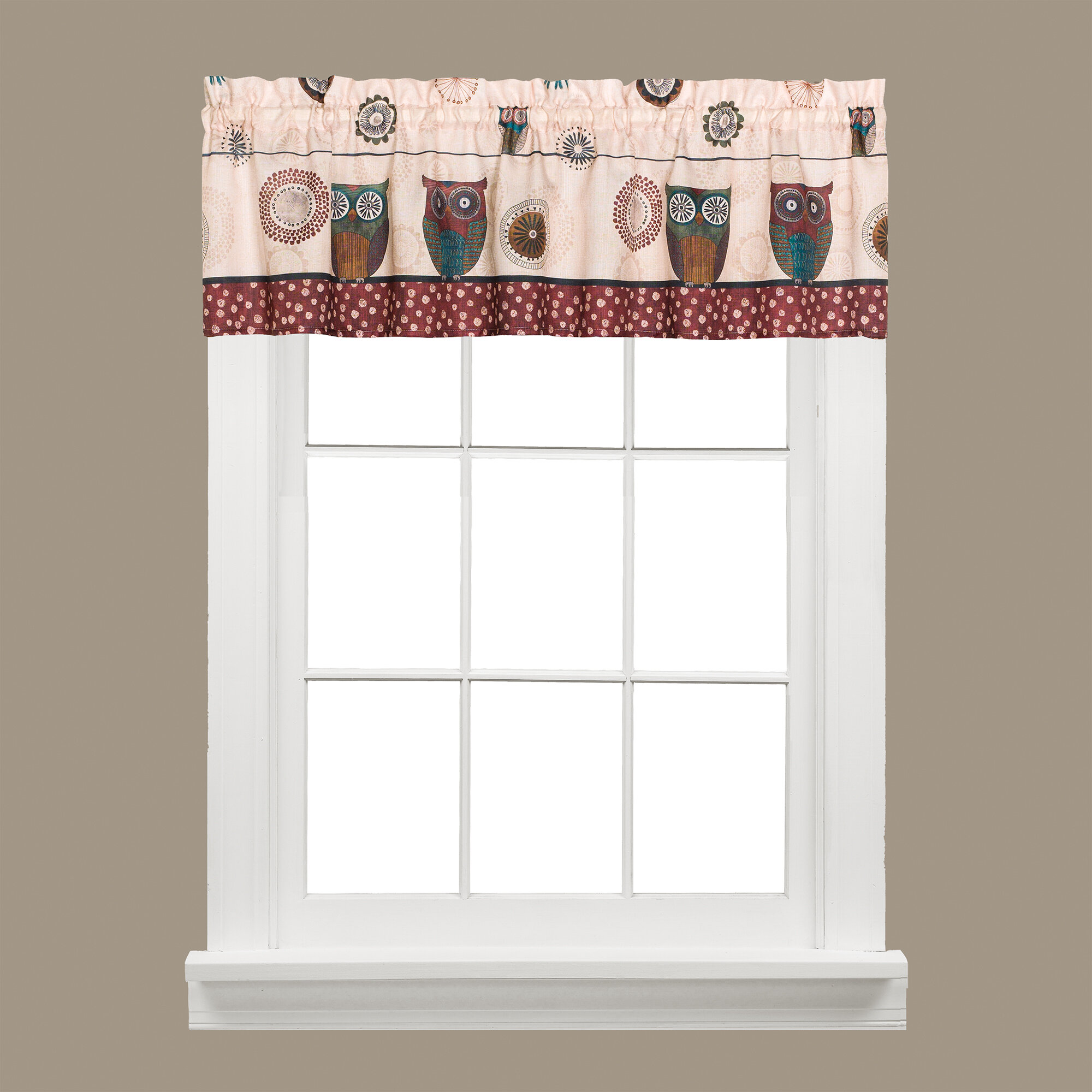 shipping product valance windows garden on park for over twisted overstock with natalie valances beads madison free tab orders home