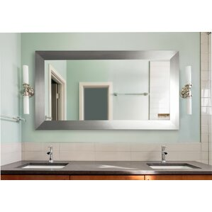 Bathroom Mirrors For Double Sinks double wide bathroom mirror | wayfair