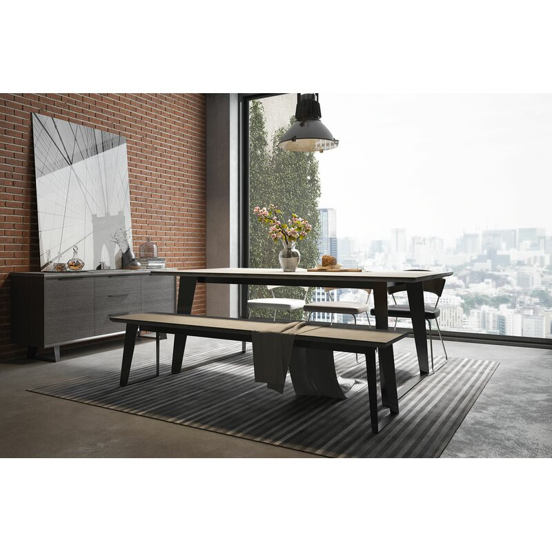 Amsterdam SteelConcrete Dining Table Reviews AllModern