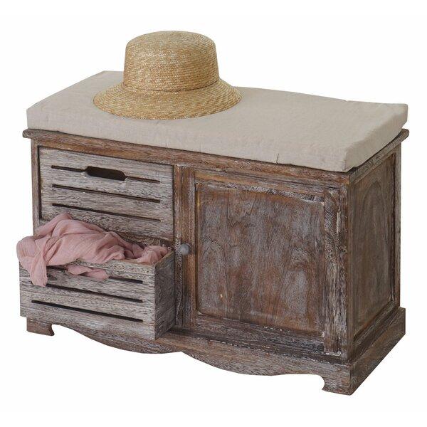 hazelwood home gepolsterte garderobenbank ascoli mit stauraum aus holz. Black Bedroom Furniture Sets. Home Design Ideas