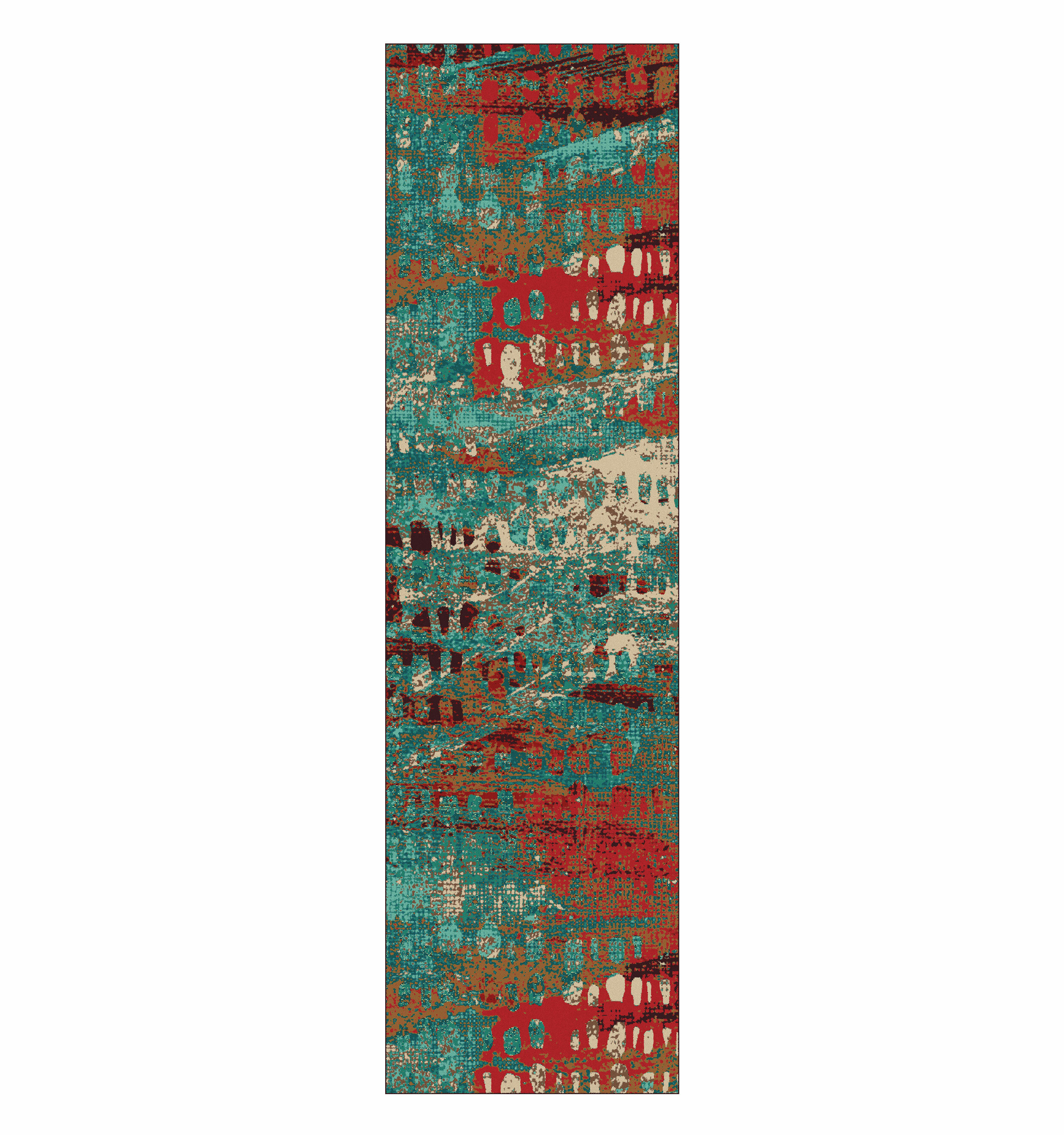 World Menagerie Belgrade Turquoise Area Rug