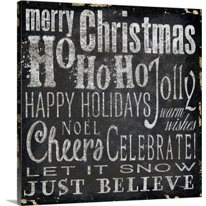 Christmas Art Type III by Elizabeth Medley Textual Art on Wrapped Canvas