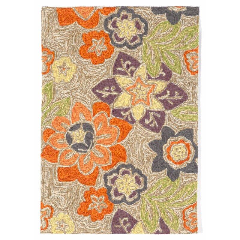 August Grove Dazey Hand-Hooked Purple Indoor/Outdoor Area Rug, Size: Rectangle 76 x 96