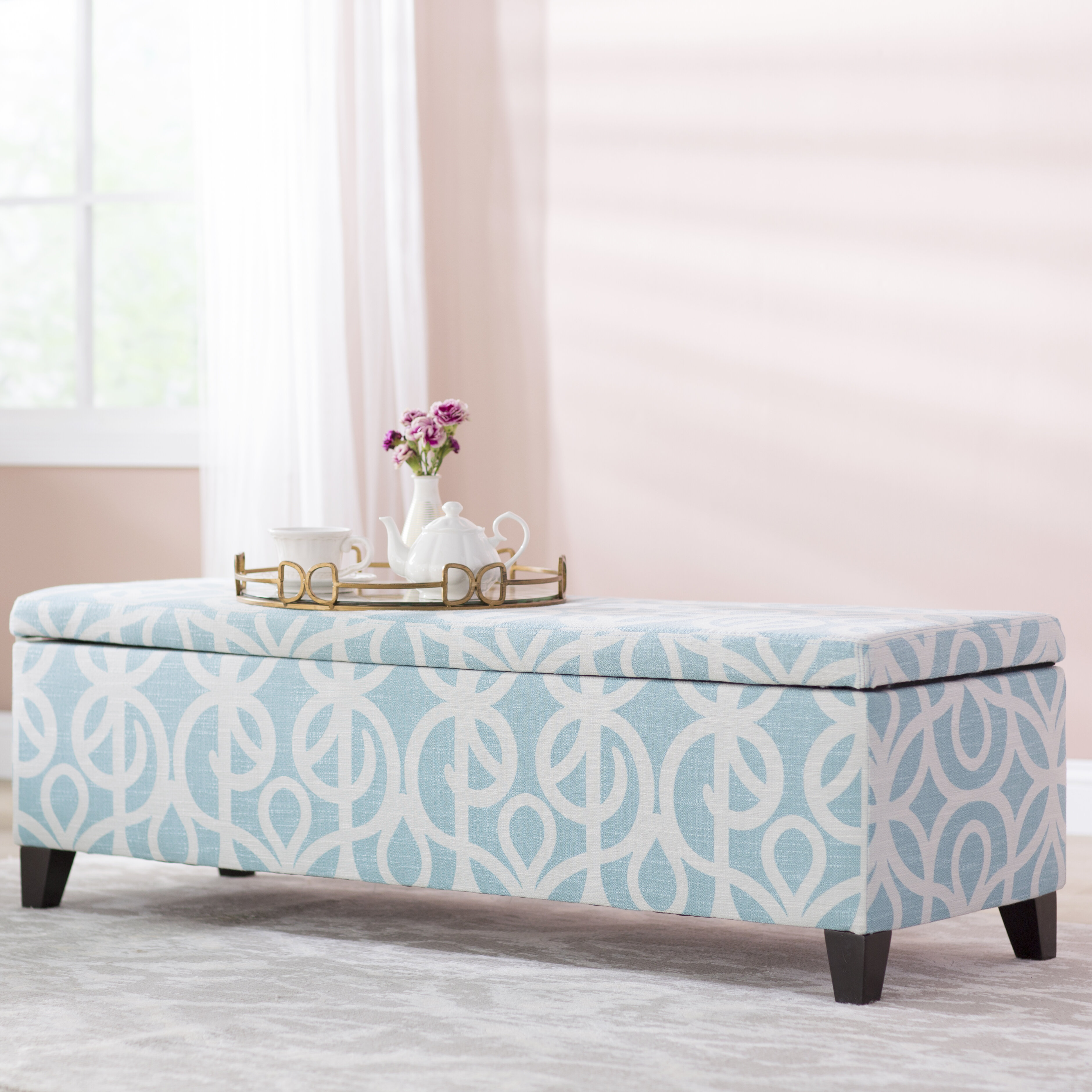 Charlton Home Adair Upholstered Storage Bench & Reviews | Wayfair