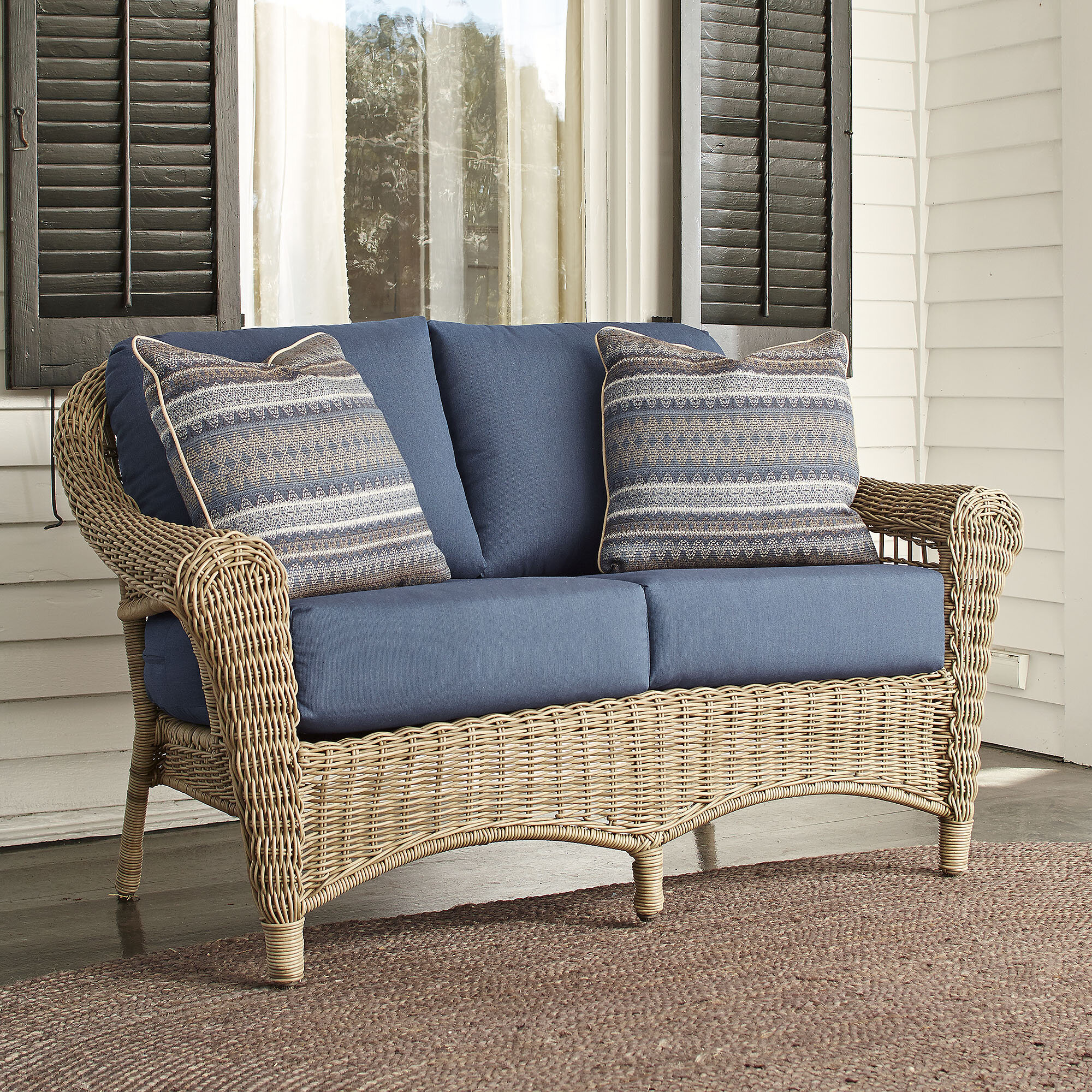 sunbrella with loveseat collection dove outdoor decorators patio broadview cushions p loveseats spectrum home