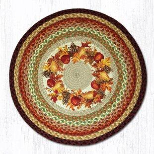 Autumn Wreath Round Multi Patch Area Rug