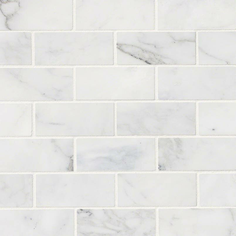 Msi Calacatta Cressa Honed 2 X 4 Marble Subway Tile In White Reviews Wayfair