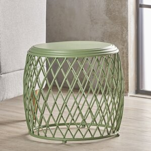 Rand Indoor Iron End Table by Varick Gallery