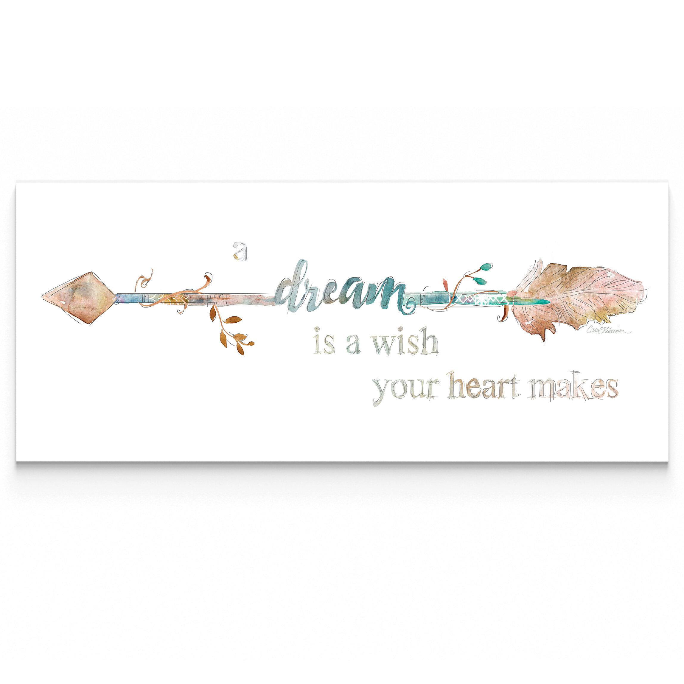 Wexfordhome dream arrow by carol robinson textual art on wrapped canvas reviews wayfair