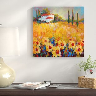 ce0a4df20ed  Tuscan Sunflowers  Print on Wrapped Canvas