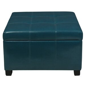 Massey Faux Leather Storage Ottoman by Red Barrel Studio