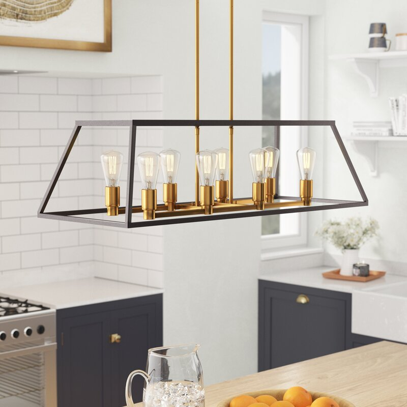 Brayden Studio Sheredan 8 Light Kitchen Island Pendant