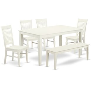 Smyrna 6 Piece Solid Wood Dining Set