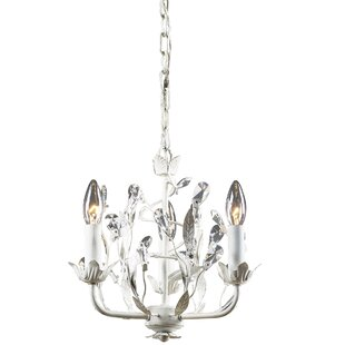 Antique white crystal chandelier wayfair 3 light candle style chandelier aloadofball Image collections