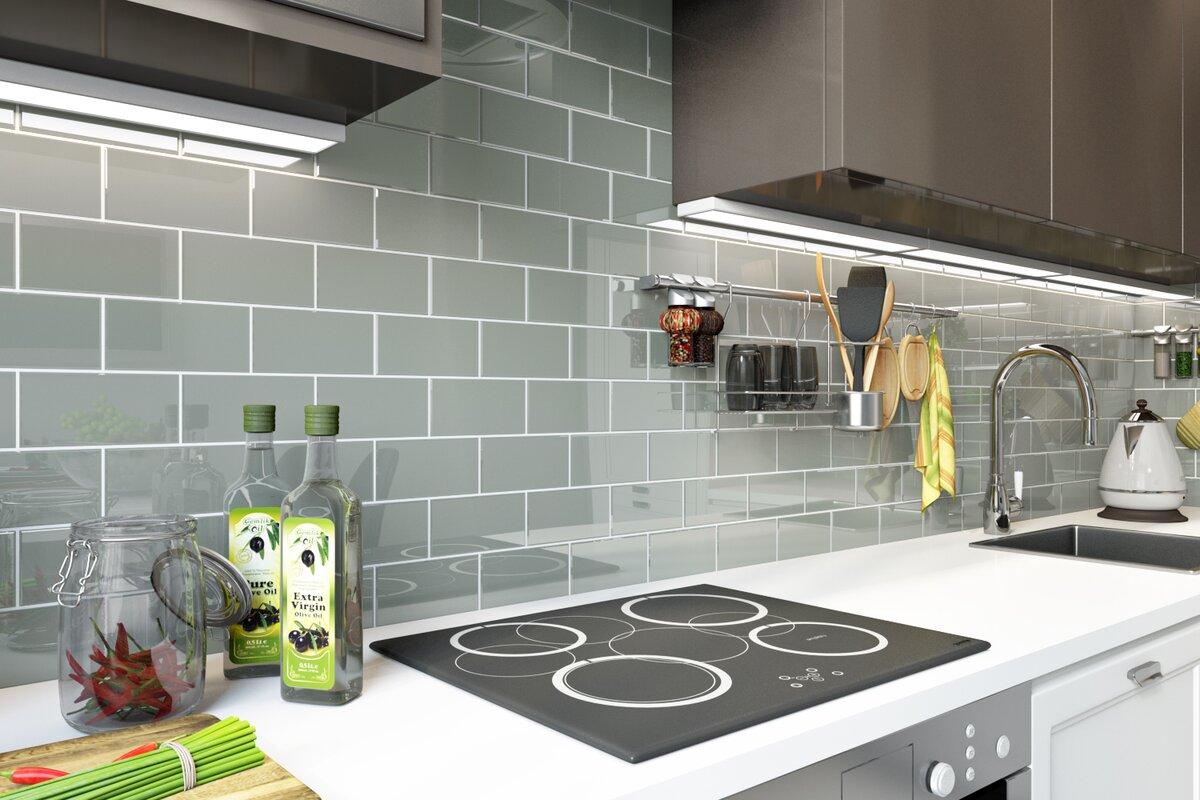 Giorbello 3 x 6 glass subway tile in gray reviews wayfair 3 x 6 glass subway tile dailygadgetfo Gallery