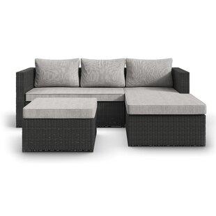 Outdoor sectional Navy Blue Calla Patio Sectional With Cushions Allmodern Modern Outdoor Sectionals Allmodern