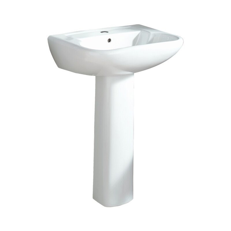 "Southhampton Ceramic 24"" Pedestal Bathroom Sink"