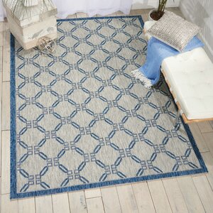 Cochrane Ivory/Blue Indoor/Outdoor Area Rug