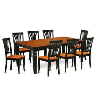 Beesley 9 Piece Extendable Solid Wood Dining Set