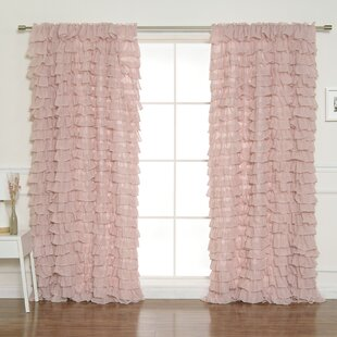 Pink Ruffle Curtains