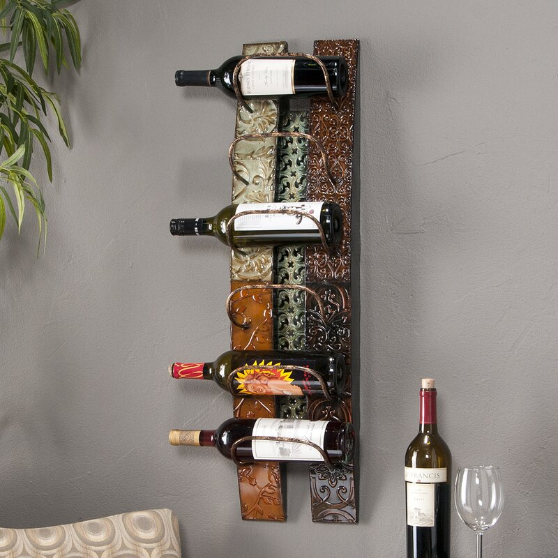 Fleur De Lis Living Zendaya 6 Bottle Wall Mounted Wine Rack ...
