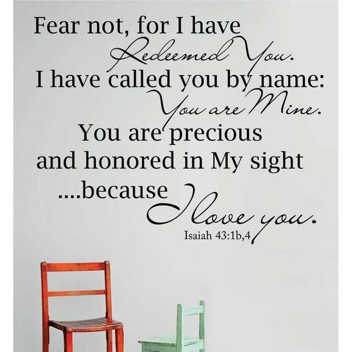 Isaiah Bible Verse Wall Decal