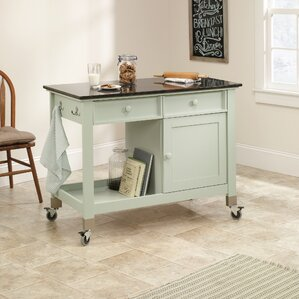 Kitchen Island On Casters kitchen island no wheels | wayfair