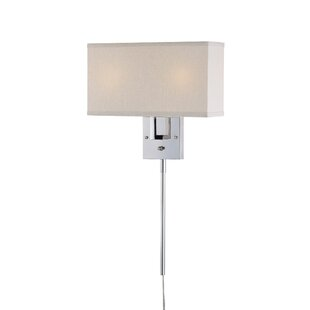 Modern contemporary plug in wall sconce with cords allmodern puccio 2 light plug in armed sconce aloadofball Gallery