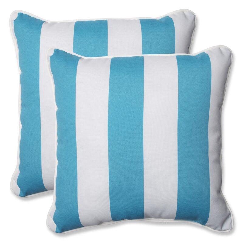 Wonderful Cabana Stripe Indoor/Outdoor Throw Pillow