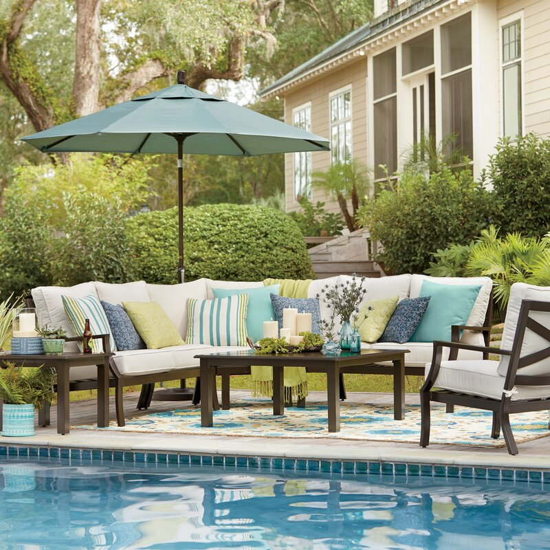 Endicott Patio Sectional With Sunbrella Cushions