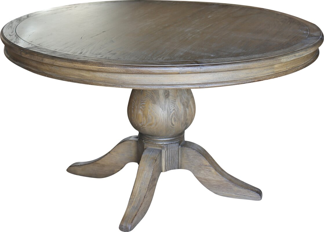 One Allium Way Lacour Reclaimed Wood Round Dining Table ...