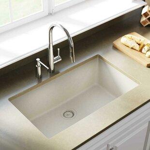 quartz kitchen sinks undermount quickview white quartz kitchen sink wayfair