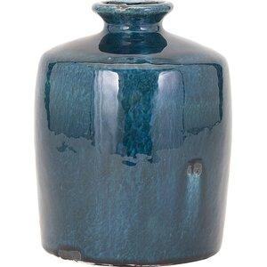Blue Trumpet Table Vase