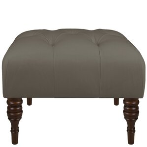 Twill Tufted Ottoman by Alcott Hill