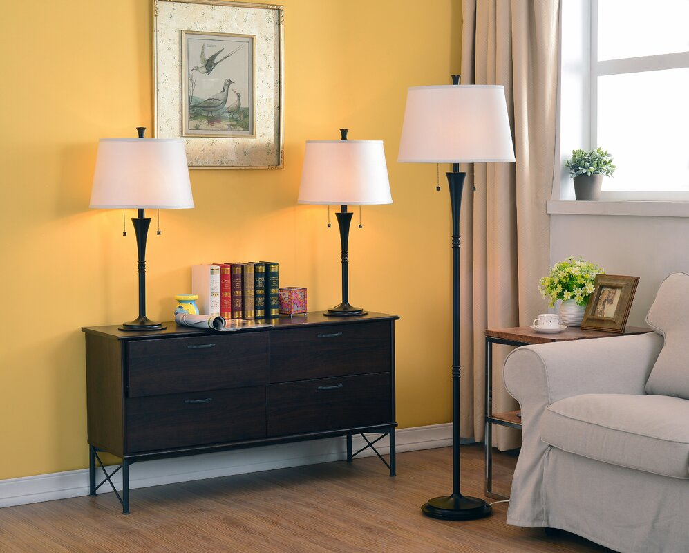 Wildon Home R Rowena 3 Piece Table And Floor Lamp Set Reviews