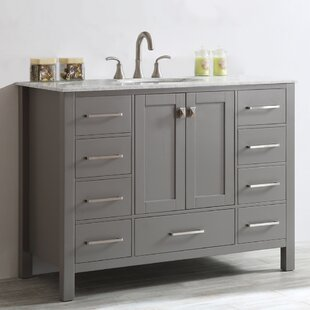 Inch Bathroom Vanities Youll Love Wayfair - 48 gray bathroom vanity