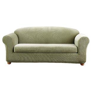 Stretch Madison Box Cushion Sofa Slipcover