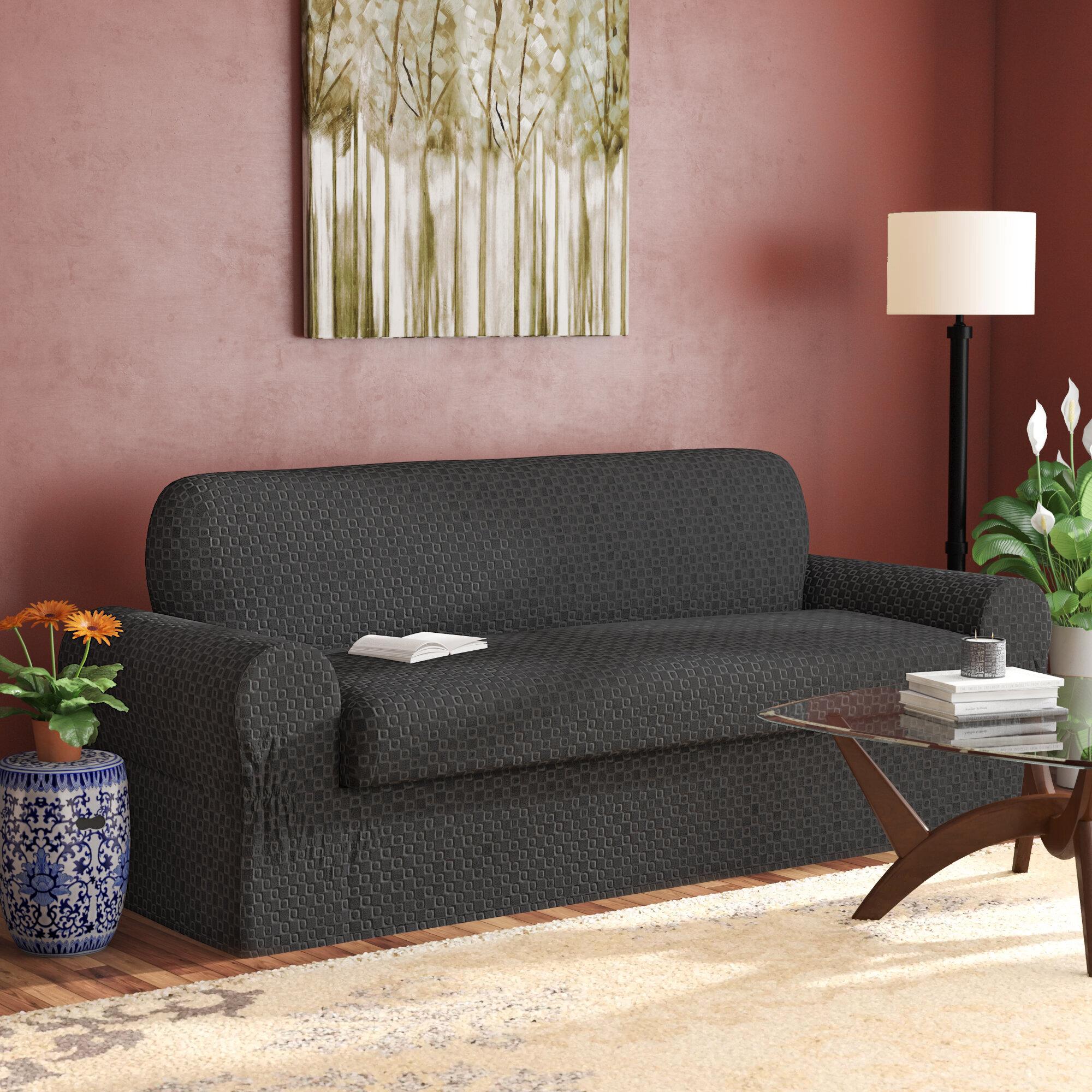 Darby Home Co Box Cushion Sofa Slipcover & Reviews | Wayfair