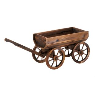 Wood Wheelbarrow Planters You Ll Love Wayfair