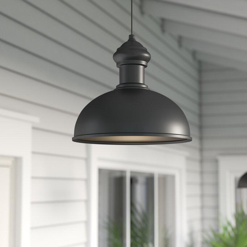 Wayfair Outdoor Hanging Lights: Breakwater Bay Binne 1-Light Outdoor Pendant & Reviews