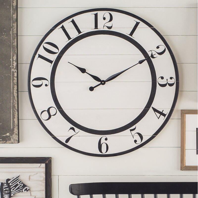 Oversized Nynette Farmhouse Wall Clock Amp Reviews Joss Amp Main