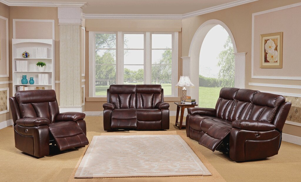 Red Barrel Studio Lenny 3 Piece Leather Living Room Set Reviews